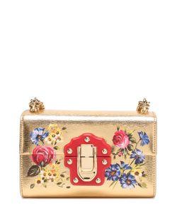 Dolce & Gabbana | Сумка Lucia Из Металлизированной Кожи С Росписью