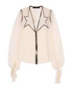 Elie Saab | Шелковая Полупрозрачная Блуза С V-Образным Вырезом