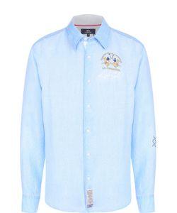 La martina | Льняная Рубашка С Воротником Кент