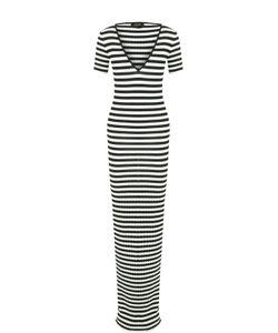 Dsquared2 | Вязаное Платье В Полоску С V-Образным Вырезом