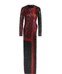 Tom Ford | Платье-Макси С Высоким Разрезом И Пайетками