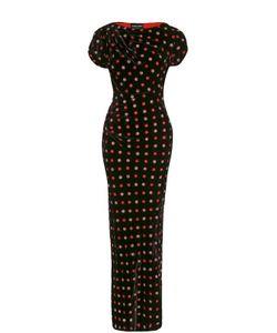 Giorgio Armani | Приталенное Платье-Макси С Контрастной Вышивкой