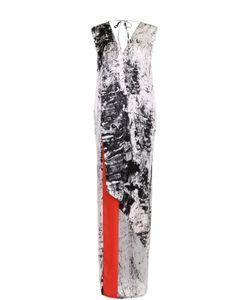 Ilaria Nistri | Платье-Макси Асимметричного Кроя С V-Образным Вырезом