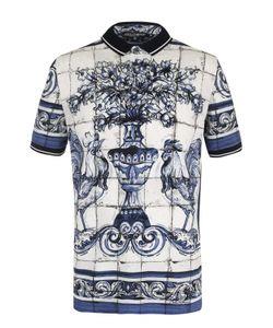 Dolce & Gabbana | Хлопковое Поло С Принтом