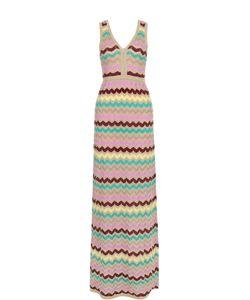 Missoni | Приталенное Платье-Макси С V-Образным Вырезом M