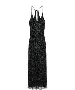Armani Collezioni | Платье-Макси С Контрастной Вышивкой Бисером