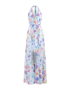 Lazul | Шелковое Платье-Макси С Открытой Спиной
