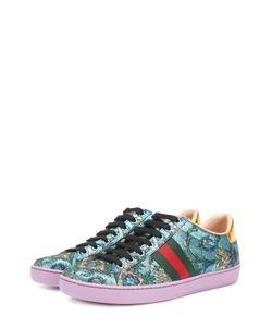 Gucci | Текстильные Кеды New Ace С Вышивкой