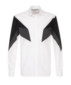 Neil Barrett | Хлопковая Рубашка С Контрастной Отделкой