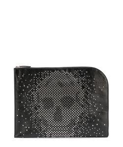 Alexander McQueen   Кожаная Папка Для Бумаг На Молнии С Декоративной Отделкой