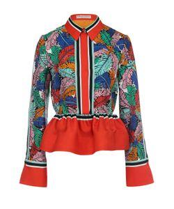 Emilio Pucci | Шелковая Блуза С Ярким Принтом И Баской