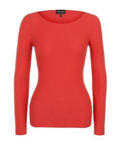 Giorgio Armani   Облегающий Пуловер С Круглым Вырезом