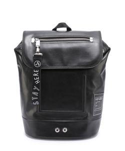 Kenzo | Кожаный Рюкзак С Внешним Карманом На Клапане