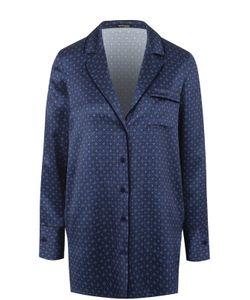 Kiton   Шелковая Блуза Прямого Кроя С Принтом