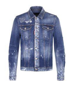 Dsquared2 | Джинсовая Куртка С Декоративными Потертостями И Заплатками