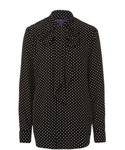 Ralph Lauren | Шелковая Блуза В Горох С Воротником Аскот