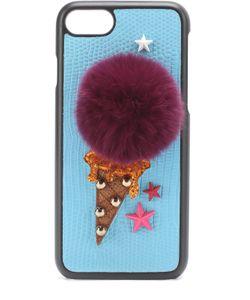 Dolce & Gabbana | Кожаный Чехол Для Iphone 7 С Аппликацией