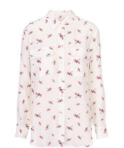 Equipment | Шелковая Блуза С Накладными Карманами И Контрастным Принтом