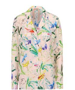 No. 21 | Шелковая Блуза В Пижамном Стиле С Цветочным Принтом