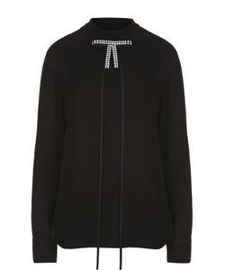 Marni | Блуза Прямого Кроя С Воротником-Стойкой И Декоративной Отделкой