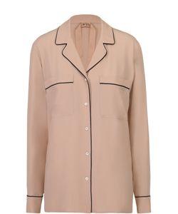 No. 21 | Блуза В Пижамном Стиле С Контрастной Отделкой
