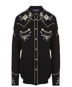 Ralph Lauren | Блуза Прямого Кроя С Контрастной Цветочной Вышивкой