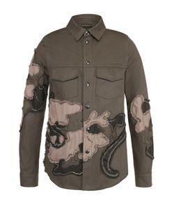 Valentino | Хлопковая Куртка На Кнопках С Аппликациями