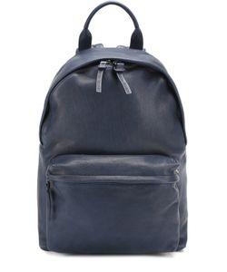 Officine Creative | Кожаный Рюкзак С Внешним Карманом На Молнии