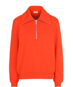 Dries Van Noten   Хлопковый Пуловер С Воротником На Молнии