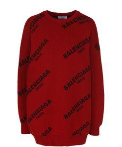 Balenciaga | Пуловер Свободного Кроя С Логотипом Бренда