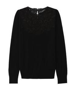 Dolce & Gabbana | Шелковый Пуловер С Кружевной Вставкой