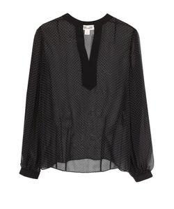 Diane Von Furstenberg | Шелковая Полупрозрачная Блуза В Горох
