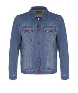 Kiton | Джинсовая Куртка С Отложным Воротником И Контрастными Пуговицами