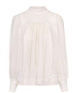 Isabel Marant | Шелковая Блуза Прямого Кроя С Воротником-Стойкой