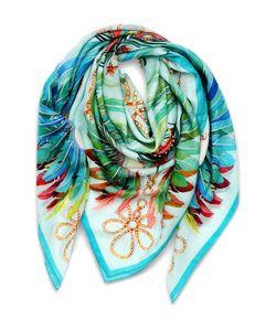 Lalique | Платок Imperial Feathers Из Смеси Кашемира И Шелка