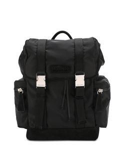 Dsquared2 | Текстильный Рюкзак С Клапаном И Замшевой Отделкой