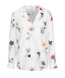 Equipment | Шелковая Блуза Прямого Кроя С Накладными Карманами И Цветочным Принтом