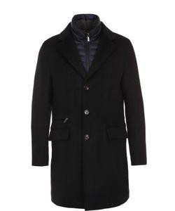 Moorer | Шерстяное Однобортное Пальто С Пуховой Подстежкой