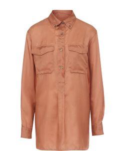 Dries Van Noten | Шелковая Блуза Прямого Кроя С Накладными Карманами