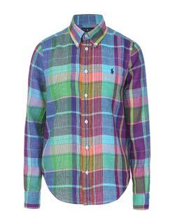 Polo Ralph Lauren | Льняная Блуза В Клетку С Вышитым Логотипом Бренда