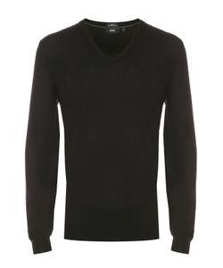 BOSS | Пуловер Из Шерсти Тонкой Вязки