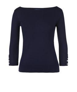 Polo Ralph Lauren | Облегающий Топ С Укороченным Рукавом И Вырезом-Лодочка