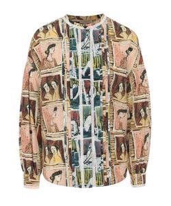 Burberry | Шелковая Блуза С Круглым Вырезом И Принтом