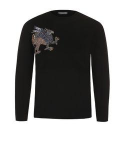 Alexander McQueen | Пуловер С Укороченным Рукавом И Контрастной Вышивкой