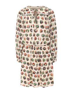 Burberry | Шелковое Мини-Платье С Принтом