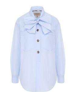 Burberry | Хлопковая Блуза С Воротником Аскот