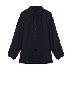Escada | Шелковая Блуза Прямого Кроя С Укороченным Рукавом