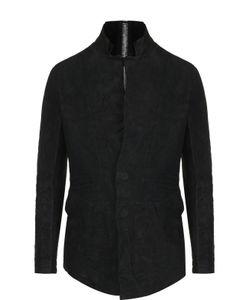 Isaac Sellam | Кожаная Куртка С Эффектом Крэш И Декоративной Отделкой
