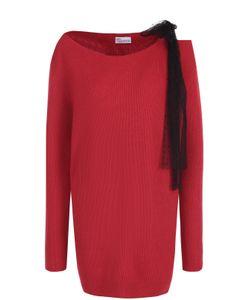 Red Valentino | Удлиненный Пуловер Фактурной Вязки С Бантом