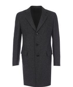 Brioni | Однобортное Кашемировое Пальто С Отложным Воротником